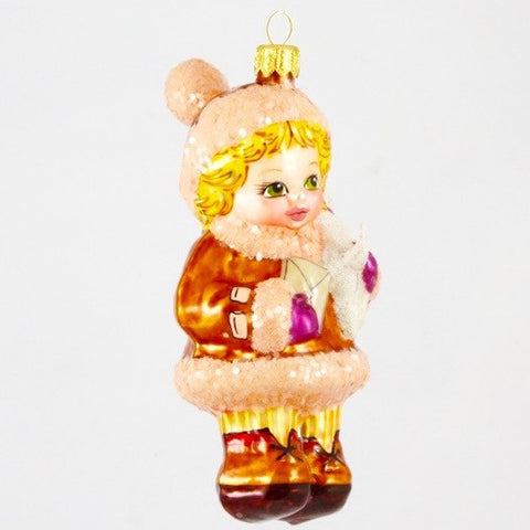 Girl with Puppy Christmas Ornament - www.giftsbykasia.com - 2