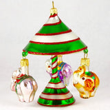 Carousel with Elephants Christmas Ornament - Gifts by Kasia - 2