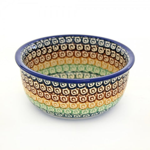 Handmade Ceramic Rainbow Circles Small Bowl - Gifts by Kasia