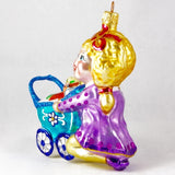 Girl with Stroller and Toys Christmas Ornament - www.giftsbykasia.com - 3
