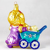 Girl with Stroller and Toys Christmas Ornament - www.giftsbykasia.com - 2