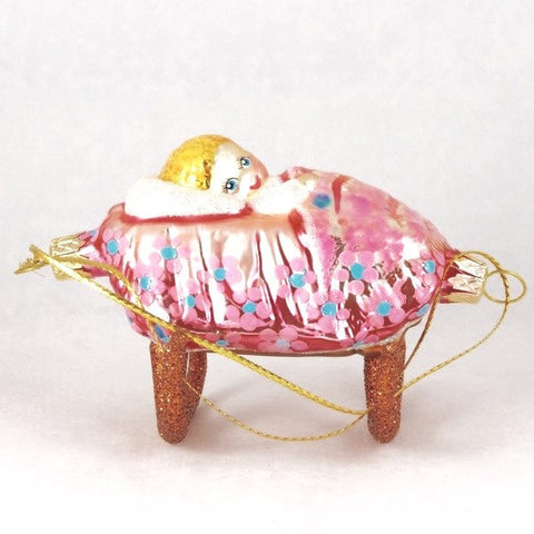 Baby girl in crib Ornament - www.giftsbykasia.com - 1