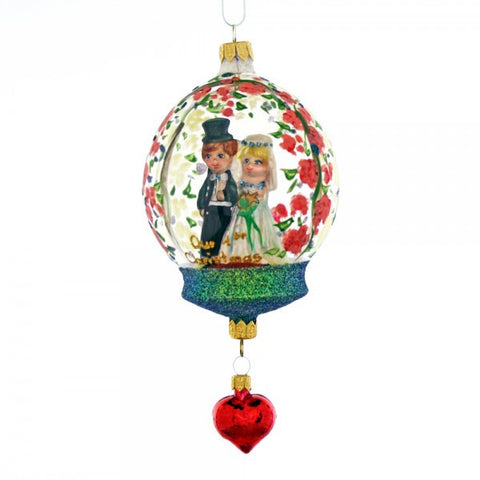 Newlywed Couple Dome Christmas Ornament - www.giftsbykasia.com - 1