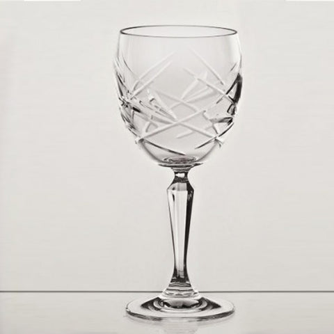 Goblet Diamond Color Cracked Ice Design Crystal - Gifts by Kasia