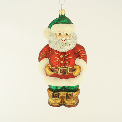 Santa with Green Hat Christmas Ornament - www.giftsbykasia.com - 1