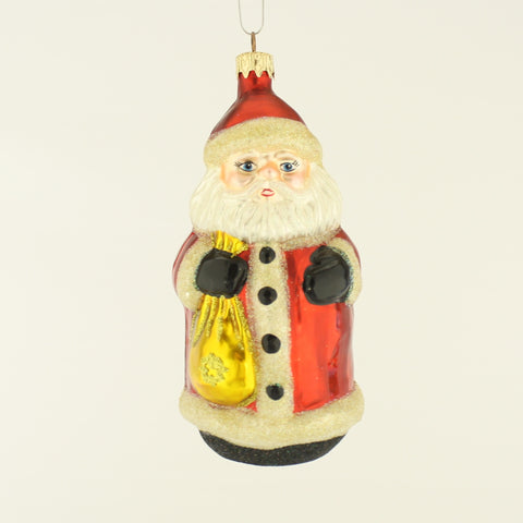 Santa with Gold Bag Christmas Ornament - www.giftsbykasia.com - 1