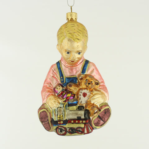 Boy with Toys Christmas Ornament - www.giftsbykasia.com - 1
