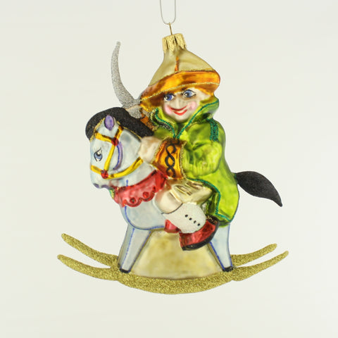 Boy on Rocking Horse Christmas Ornament - www.giftsbykasia.com - 1