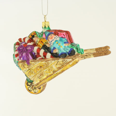 Wheel Barrow Full of Toys Christmas Ornament - www.giftsbykasia.com - 1