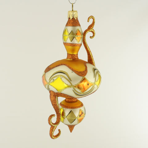 Fantasy Earth Tone Flourished Christmas Ornament - www.giftsbykasia.com - 1