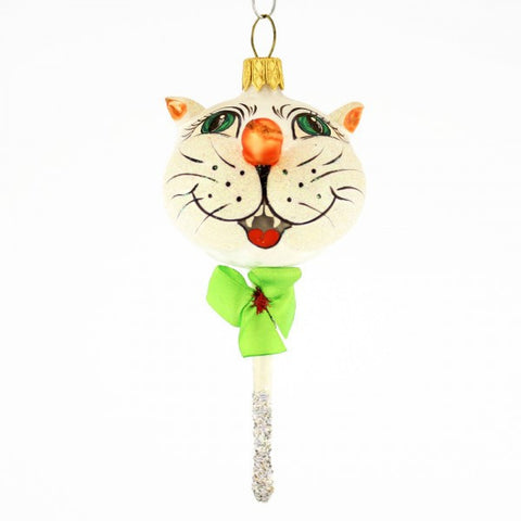 Kitty on a Stick Christmas Ornament - www.giftsbykasia.com