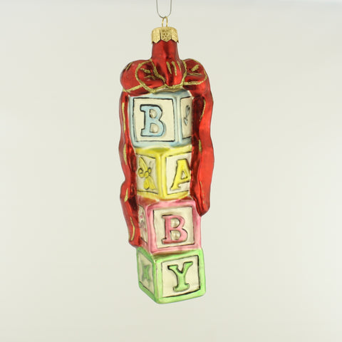 Baby blocks red Ornament - www.giftsbykasia.com - 1