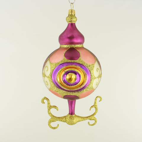Fantasy Pink Gold and Purple with Flourishing Christmas Ornament - www.giftsbykasia.com - 1