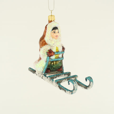 Eskimo on Sled Christmas Ornament - www.giftsbykasia.com - 1