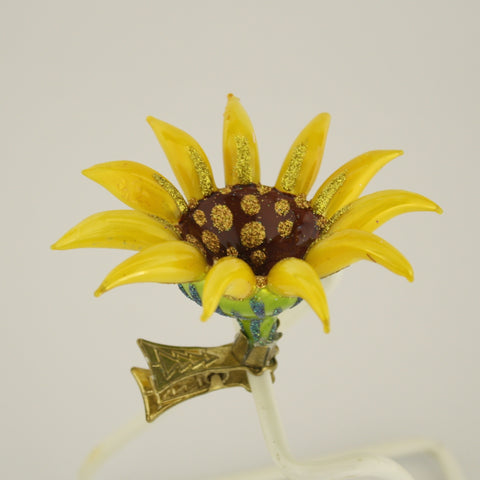 Sunflower clip Christmas Ornament - www.giftsbykasia.com - 1