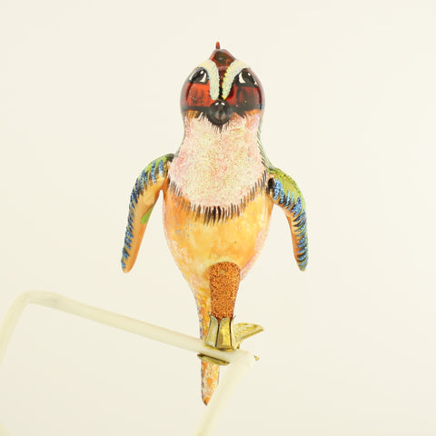 Red Headed Bird on Clip Christmas Ornament - www.giftsbykasia.com - 1