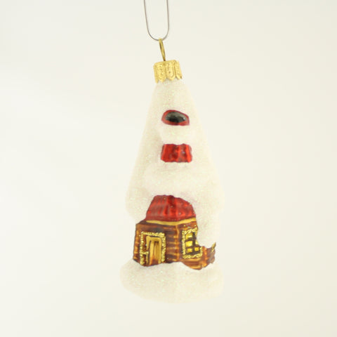Cottage with Snow Christmas Ornament - www.giftsbykasia.com - 1