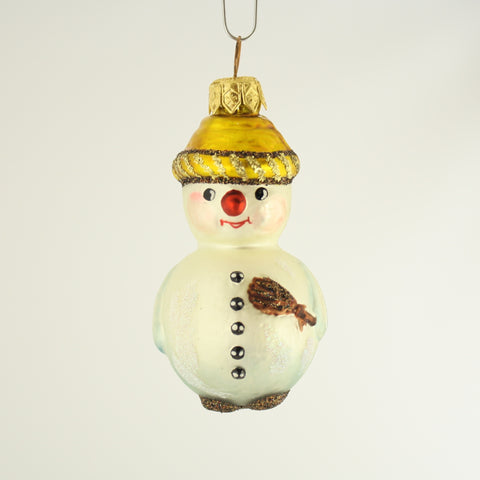 Snowman with Hat Ornament - www.giftsbykasia.com - 1
