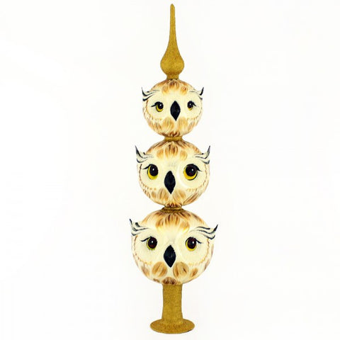 Owl Tree Topper Christmas Ornament - www.giftsbykasia.com