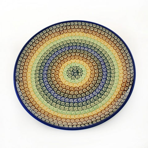 Handmade Ceramic Rainbow Circles Dinner Plate - Gifts by Kasia