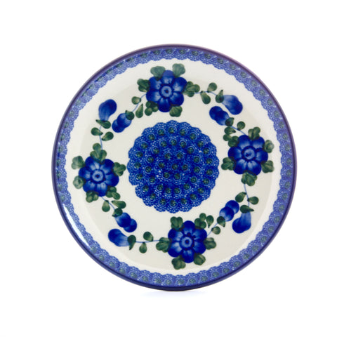 Handmade Blue Cornflower Ceramic Dinner Plate - Gifts by Kasia - 1