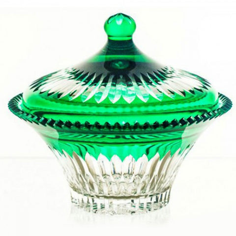 Candy Dish Crystal Emerald Color - Gifts by Kasia - 1