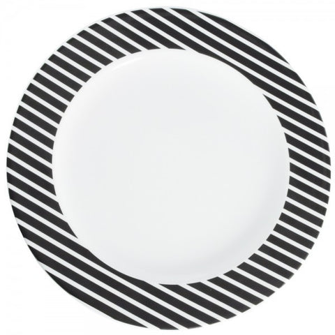 Platter/Charger Black Stripes Pattern  Mix-N-Match - Gifts by Kasia