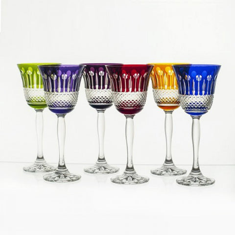 Mixed Color Goblet Crystal Set - Gifts by Kasia
