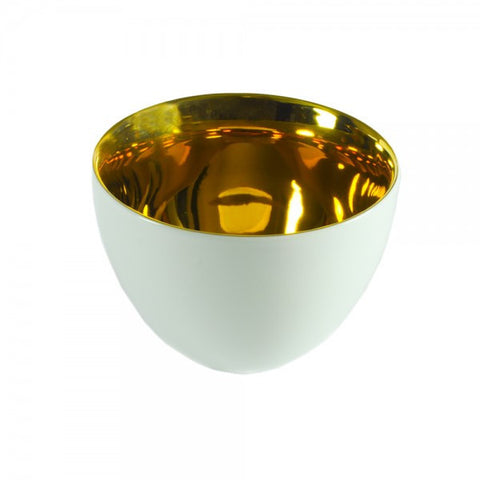 T Bowl With 24kt Gold Clad Interior - Gifts by Kasia - 1