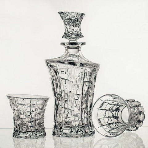 Crystal Whiskey Decanter Set  Patrio Set - Gifts by Kasia