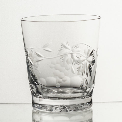 Crystal Whiskey Tumbler Grape Cut - Gifts by Kasia - 1