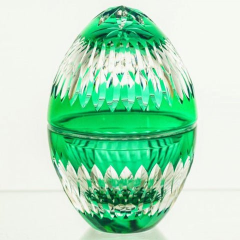 Candy Dish Crystal Emerald Egg - Gifts by Kasia - 1