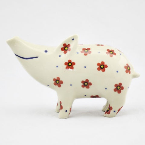 Handmade Ceramic Pig Figurine - Gifts by Kasia