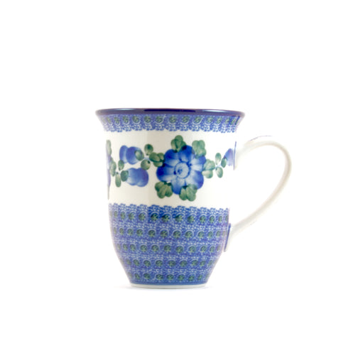Handmade Ceramic Blue Cornflower Large Mug - Gifts by Kasia - 1