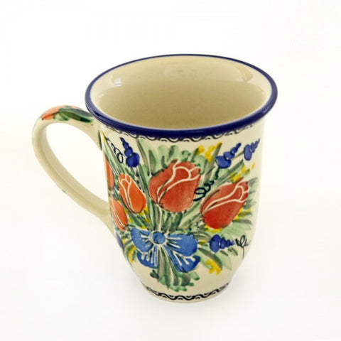 Handmade Ceramic Tulips Large Mug - Gifts by Kasia
