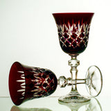 Crystal Garnet Goblet Pineapple Florentine Cut - Gifts by Kasia - 2