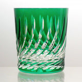 Whiskey/Liquor Emerald Tumbler Flame Cut Crystal - Gifts by Kasia - 1
