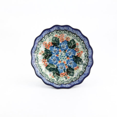 Handmade Ceramic Colorful Flower Small Scalloped Bowl - Gifts by Kasia - 1