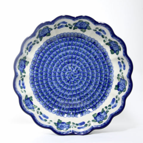 Handmade Ceramic Blue Cornflower Scalloped Bowl - Gifts by Kasia - 1