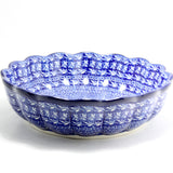 Handmade Ceramic Blue Scalloped Bowl - Gifts by Kasia - 2