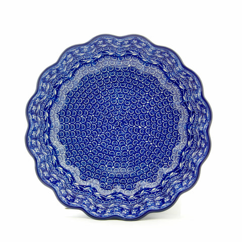 Handmade Ceramic Blue Scalloped Bowl - Gifts by Kasia - 1