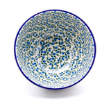 Handmade Blue Poppy Ceramic Pedestal Bowl - Gifts by Kasia - 1