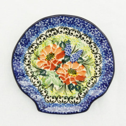 Handmade Ceramic Two Flower Shell Shaped Tray - Gifts by Kasia