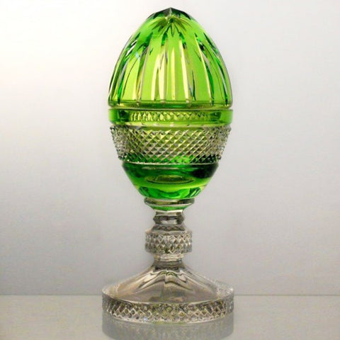 Candy Dish Peridot Crystal Egg Raised - Gifts by Kasia