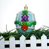 Blue Egg with Purple Flower Ornament - Gifts by Kasia - 6