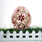 Pink with Gold Trim and Red Gems Egg Christmas or Easter Ornament - Gifts by Kasia - 5