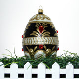Black Gold and Red Gems Egg  Ornament - Gifts by Kasia - 4