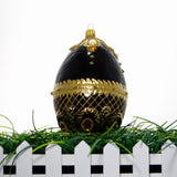 Black and gold egg Ornament - Gifts by Kasia - 4