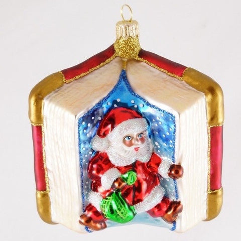 Santa in Red Book Christmas Ornament - www.giftsbykasia.com - 1
