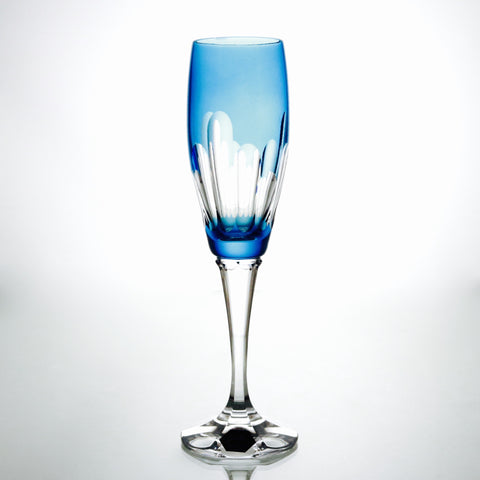 Crystal Aqua Champagne Flute - Gifts by Kasia - 1